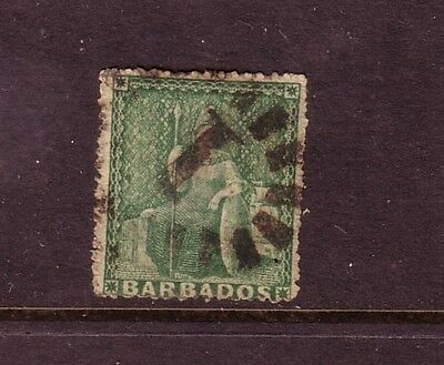 BARBADOS....  1860  ½d green used