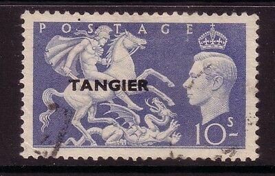 TANGIER....  1950-51  10s blue used