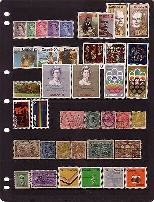 CANADA....  Collection of 39 mint or used different  stamps from 1897