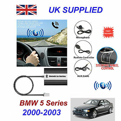 BMW 5 Bluetooth Hands Free Phone AUX Input MP3 USB 1.0A Charger Module 00-03