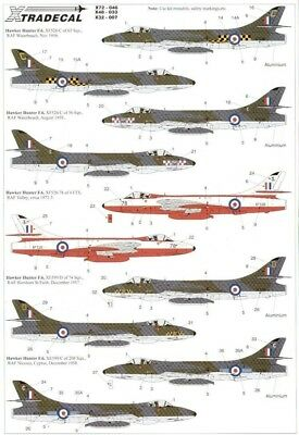 Xtradecal X72046 1/72 Hawker Hunter F.6 Model Decals
