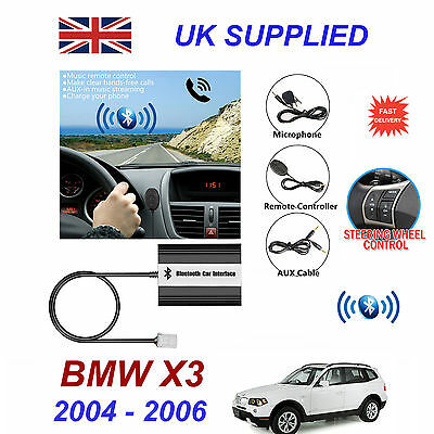 BMW X3 Bluetooth Hands Free Phone AUX Input MP3 USB 1.0A Charger Module 04-06
