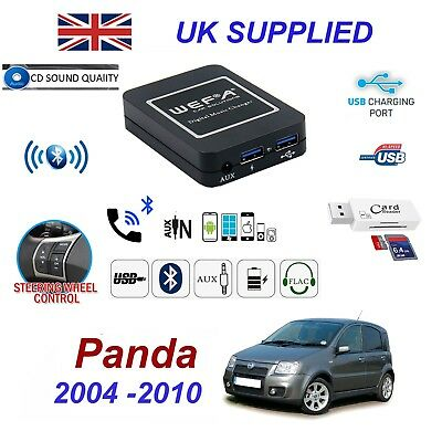 Fiat Panda Bluetooth Hand Free Phone AUX Input MP3 USB 1.0A Charger Module 04-10