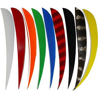 """5"""" Parabolic Arrow Feather Fletching for Hunting Bow Carbon Wood Bamboo Arrow"""