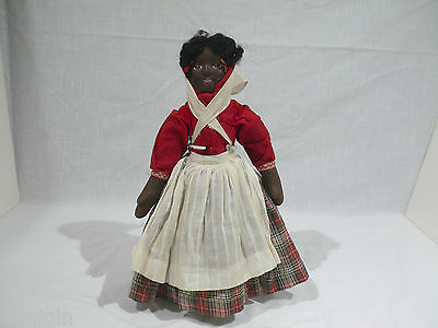 Ca. 1901 TOPSY TURVY BRUCKNER DOLL, 14 INCHES TALL, ORIGINAL CLOTHING