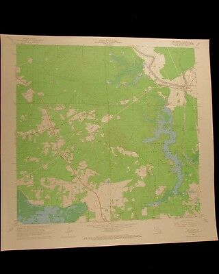 St Landry Louisiana vintage 1968 original USGS Topographical chart