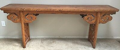 """Rare Antique Chinese 1800s Huanghuali Style Altar Table Absolutely Stunning 85"""""""