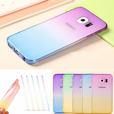 HOT! Slim Ombre Gradually Clear Soft TPU Silicone Gel Case Cover For Phones