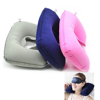 Soft Neck U  Shaped Inflatable Pillow Car Air Travel Office Home Support Cushion