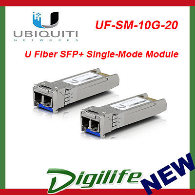 Ubiquiti Networks UF-SM-10G-20 U Fiber SFP+ Single-Mode Module 10G 20 Pack