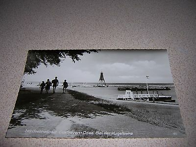 1950s NORTH SEA SPA KUGELBAKE CUXHAVEN GERMANY REAL-PHOTO RPPC POSTCARD