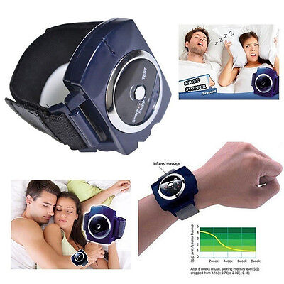 Snore Blocker Stopper intelligent Anti-Snore Sleeping Wristband Stop Snoring A