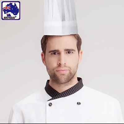 100pcs Disposable Chef Hat Cook Cap Baker Catering Serving White SGHA11800x100