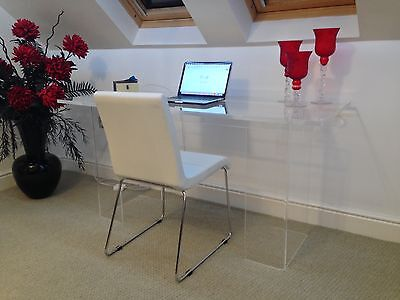 Modern Acrylic Perspex Contemporary Large Computer Desk Dressing Table