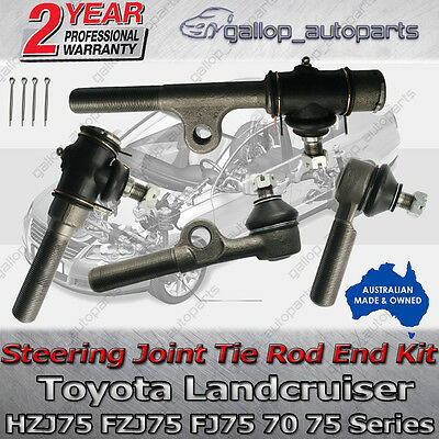 HZJ75 FZJ75 FJ75 Tie Rod End Relay Kit Steering Toyota Landcruiser 70 75 Series