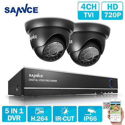 Sannce CCTV DVR 4CH 1080N HDMI 2 Outdoor 720P Video Camera Security System kit