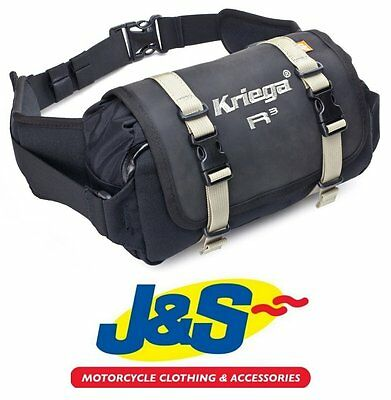 Kriega R3 Waistpack Waterproof Touring Motorcycle Enduro Green Lane Trail J&s