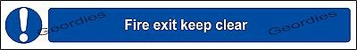 Fire Exit Keep Clear  - Printed Floor Sign Sticker Graphic Health & Safety Ppe