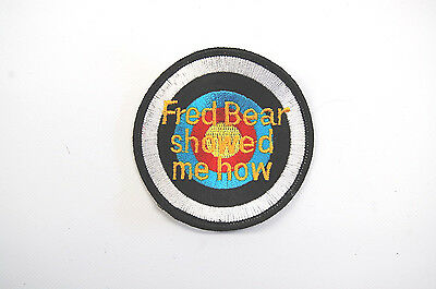 "FRED BEAR Patch / Aufnäher ORIGINAL NEU / NEW ""Fred Bear Showed Me How"""