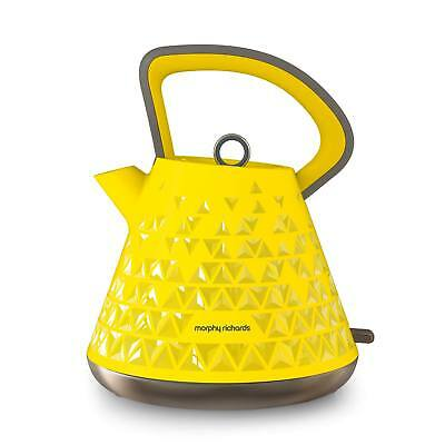 Morphy Richards 108108 Prism 3kW 1.5L Rapid Boil Traditional Kettle in Yellow