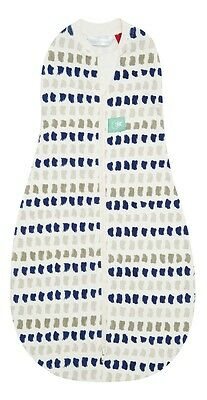 ergoPouch ergoCocoon Summer Swaddle and Sleep Bag 0.2 Tog (Navy Paint) - 0-3m