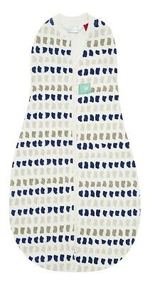 ergoPouch ergoCocoon Summer Swaddle and Sleep Bag 0.2 Tog (Navy Paint) - 3-12m