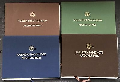 (4) DIFFERENT AMERICAN BANK NOTES & Co. ARCHIVE SERIES COLLECTION PAHV511