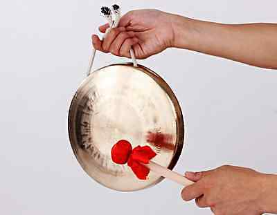 "Copper gong hand forging 8"" celebration Chinese with Mallet mediant"