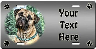 Bullmastiff Personalized License Plate