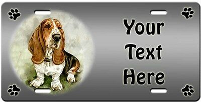 Basset Hound Personalized License Plate