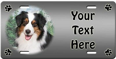 Australian Shepherd Personalized License Plate