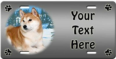 Shiba Inu Personalized License Plate