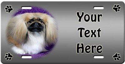 Pekingese Personalized License Plate