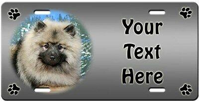 Keeshond Personalized License Plate