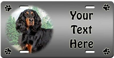 Gordon Setter Personalized License Plate