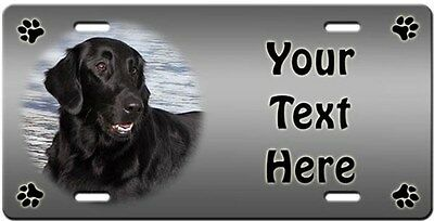 Flat Coated Retriever Personalized License Plate