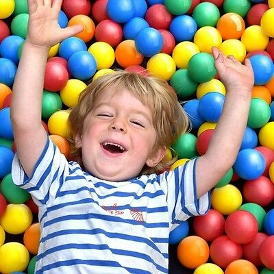 1000 Pit Balls Children's Kids Fun Pool Party Play Ball Pit Toys Plastic Colors