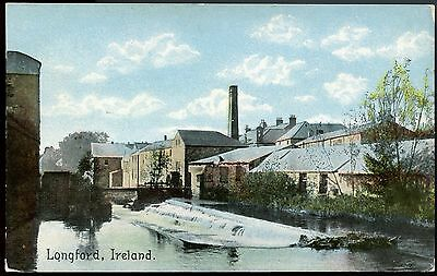 Old Rare Postcard Longford Ireland Unused (Ref: LG263)