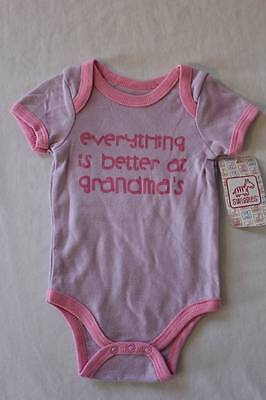NEW Baby Girls 3-6 Months Bodysuit Creeper Outfit Infant 1 Piece Grandma