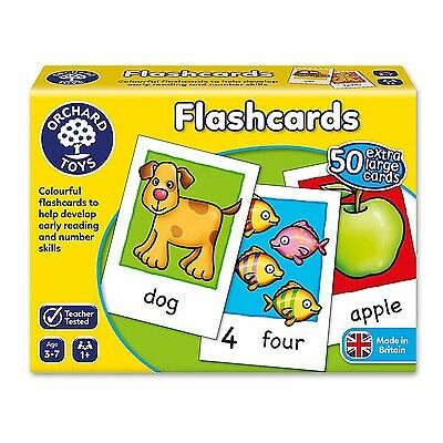 Kids Orchard Toys Children Large Double-Sided Educational Flashcards *NEW*