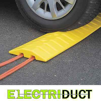 "1793 9' High Density Polyethylene Speed Bump - 108"" W x 10"" D x 2"" H - Eagle"