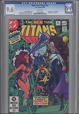New Teen Titans #23 CGC 9.6 1st App of Blackfire and  Vigilante! 1982 KEY Issue