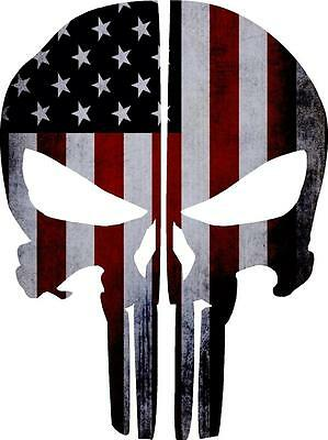 Punisher Skull Reflective Fire Helmet Decals Fire Helmet Sticker - American Flag