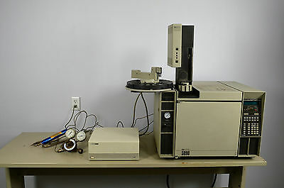 HP Hewlett Packard 5890 Gas Chromatograph with Autosampler and Autoinjector
