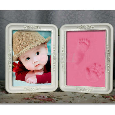 Cute Photo Frame Soft Clay Imprint DIY Baby Footprint Hand Print Cast Set Gift