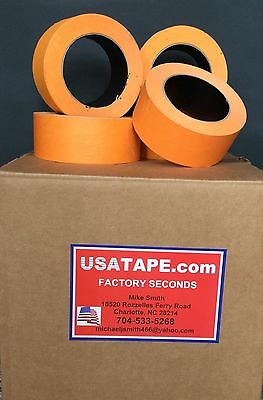 "24 Rolls 2"" X 60 Yrds Orange Automotive Painters Masking Tape MADE IN USA"