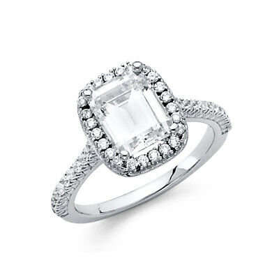 Jewelry & Watches Diamond Jewelry 2.75 CT Emerald Engagement Bridal Ring Band Diamond Set 14k Solid White Gold