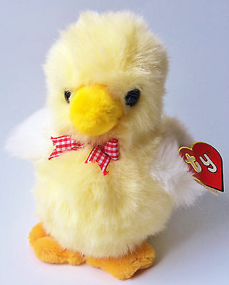 Ty 1991 Classic Plush Peepers Squeaking Chick 90s Stuffed Animal