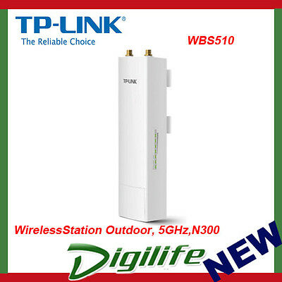 TP-Link WBS510 5GHz 300Mbps Outdoor Wireless Base Station Access Point PoE MIMO