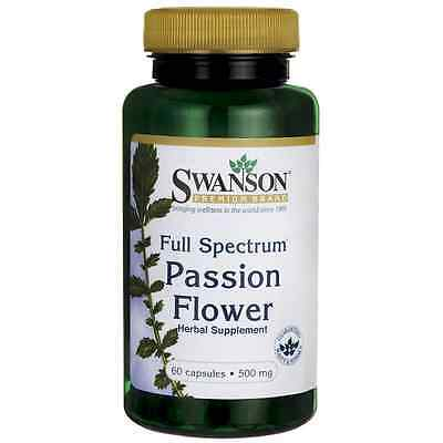 Passion Flower 60 Caps 500 Mg Swanson Nervous System Relaxation Calming Herb